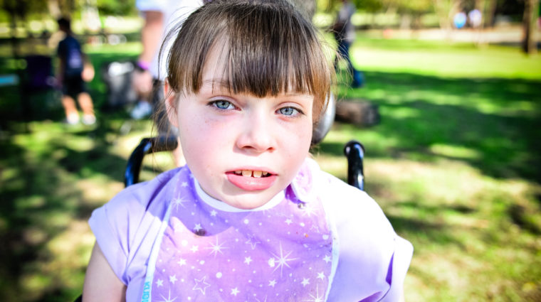 Little girl with rettsyndrome